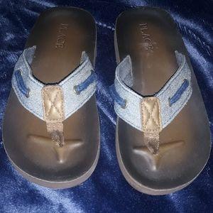Children's Place Denim Flip Flop Sandals ♡